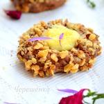 Шоколадное печенье с орехами и апельсиновым курдом