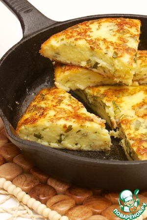 Рецепт Быстрая сырная лепешка