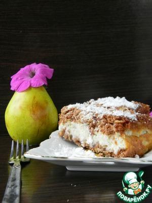 Рецепт Овсяный пирог с творожно-грушевой начинкой