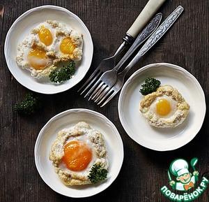 Рецепт Запеченые яйца с хлопьями