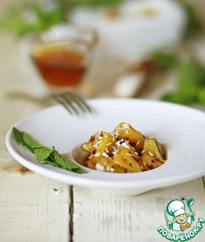 Рецепт Ананас на гриле с соево-мятным сиропом