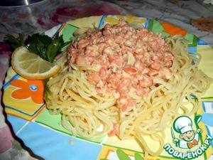 Спагетти с креветками в чесночном соусе пошаговый рецепт с фотографиями как приготовить