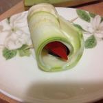 Диетические рулетики из овощей с плавленым сыром