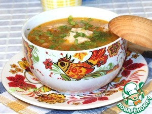 Рецепт Суп куриный с томатом и сыром