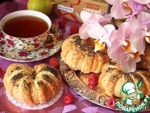 Рецепт Слоеные булочки с фруктово-ягодной пшенной начинкой