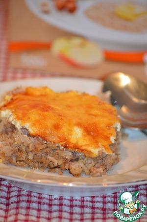 Рецепт Запеканка гречневая с курицей и грибами