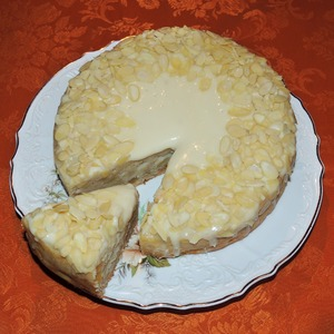 Рецепт Яблочно-имбирный пирог с белым шоколадом