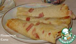 Рецепт Горячие пшенные вафли с беконом и сыром