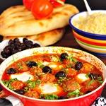 Марокканский тажин с бараниной и яйцом