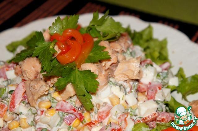 Салаты из консервированной горбуши рецепты с простые и вкусные