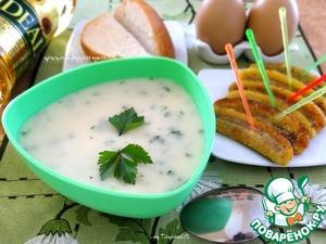 Рецепт Картофельный крем-суп с жареными бананами
