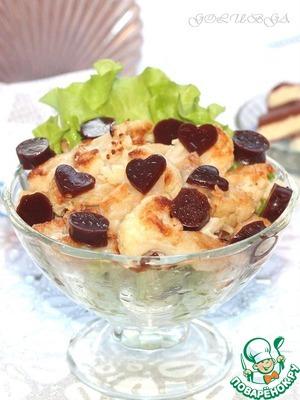 Рецепт Карамельная цветная капуста с шоколадным желе