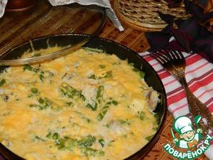 Рыбная сковорода со стручковой фасолью простой пошаговый рецепт с фото как готовить