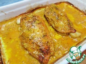 Рецепт Сочное куриное филе, запеченное в молочном соусе