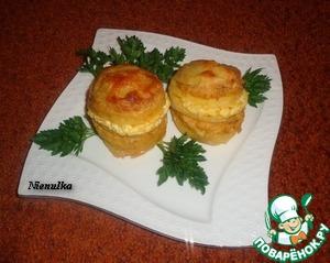 Рецепт Слоеный картофель с творогом и тыквой