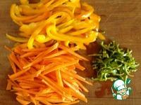Куриная печень с овощами в китайском варианте ингредиенты