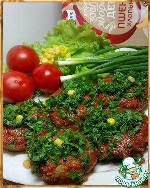 Рецепт Пшенные котлеты в томате к завтраку