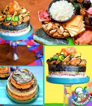 Рецепт Суши-торт с мидиями