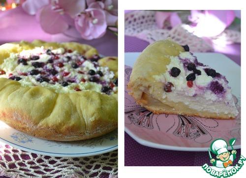 Простой пирог с творогом и яблоками рецепт 65