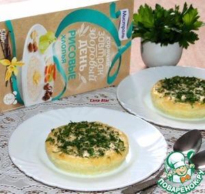 Рецепт Кабачковое суфле с рисовыми хлопьями