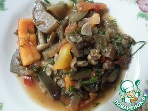 Рецепт Салат из баклажанов и грибов на зиму