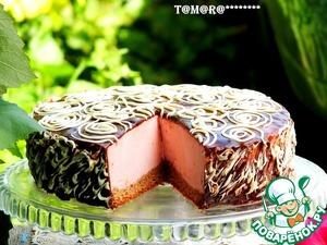 Рецепт Торт с малиновым суфле