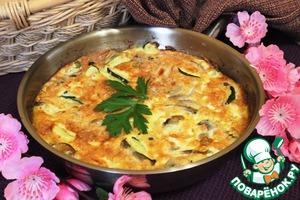 Рецепт Фриттата с грибами, кабачком и брынзой