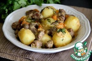 Рецепт Жаркое из молодого картофеля в кокосовом молоке