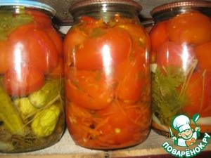 Рецепт Фаршированные помидоры-сливки в зиму
