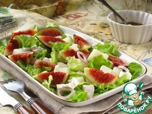Рецепт Салат с дыней и инжиром