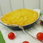 Филе семги, запеченное под картофельным пюре