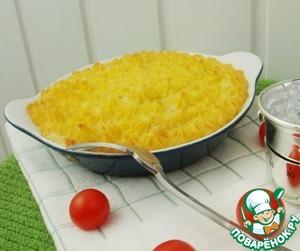 Рецепт Филе семги, запеченное под картофельным пюре