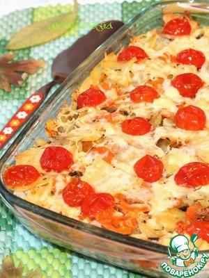 Рецепт Цветная капуста, тушенная с овощами