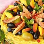 Заварной торт с фруктами