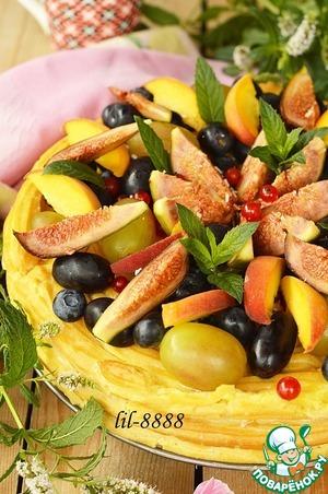 Рецепт Заварной торт с фруктами