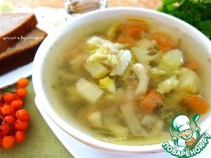Рецепт Супчик из куриной печени с брокколи и цветной капустой