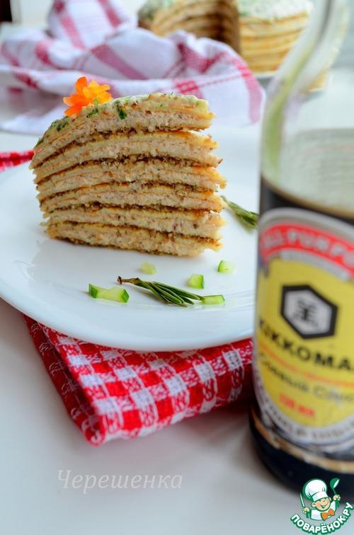 Закусочный блинный торт рецепт с фото пошагово в домашних условиях