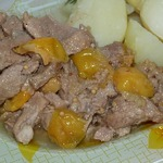 Свинина тушеная с японской айвой