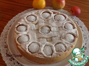 Рецепт Яблочно-персиковый пирог с нектаринами