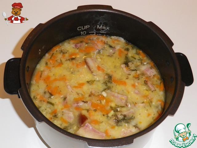 суп гороховый с копченостями рецепт с фото в мультиварке