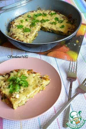 Картофельный пирог на сковороде