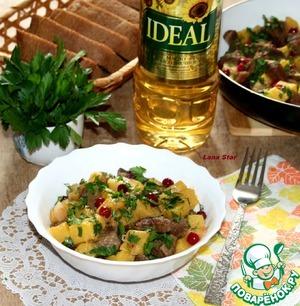 Рецепт Жаркое из говядины и тыквы с клюквой