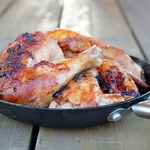 Запеченная курица каччиаторе с красно-винным маслом