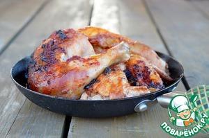 Рецепт Запеченная курица каччиаторе с красно-винным маслом