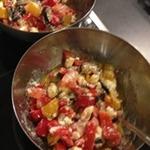 Теплый салат из овощей и сыра фета