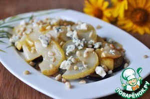 Рецепт Салат из баклажанов, груши и голубого сыра