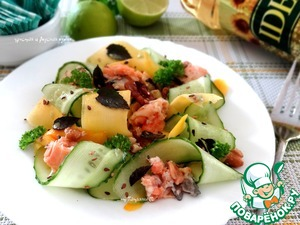 Рецепт Салат из сырой тыквы под пикантной заправкой