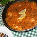 Рыба под овощным соусом