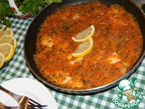 Рецепт Рыба под овощным соусом