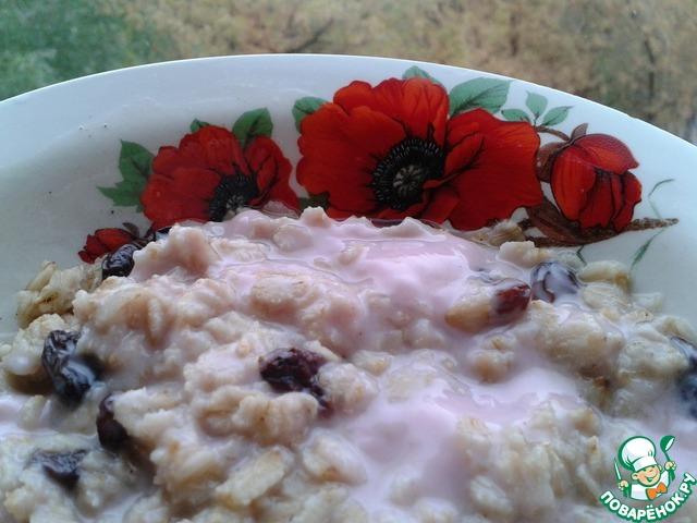 овсяная каша с йогуртом на завтрак варианты рецептов